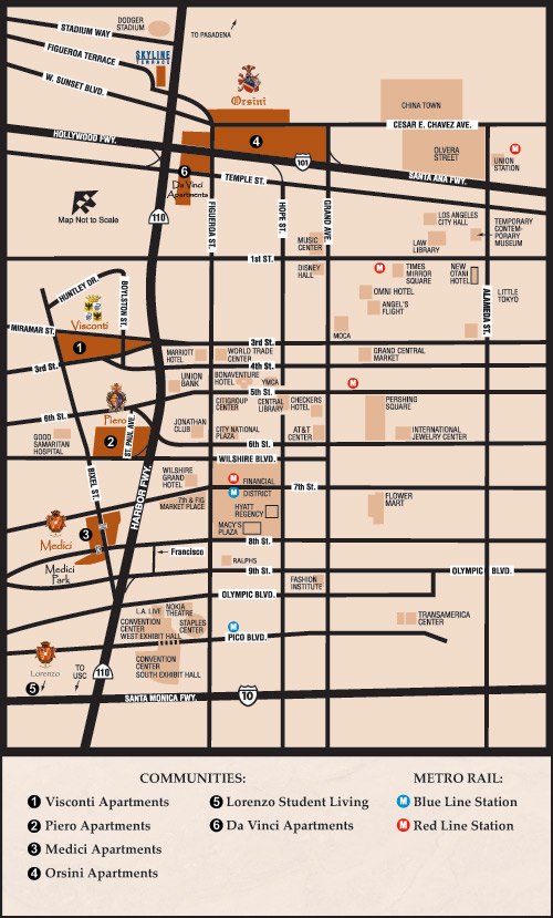 Downtown LA Map